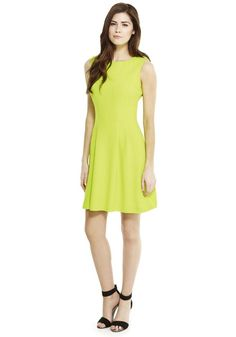 ... with this F&F Crepe Fit and Flare Dress in Lime from Tesco for £22