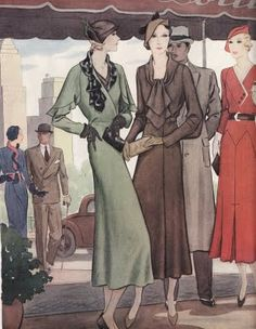 Chic streetwear, McCall's March 1932