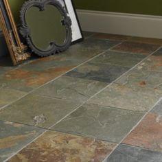 Diamond sawn edge, riven - Imperial Slate - Wall & Floor Tiles Hallway Flooring, Slate Flooring, Slate Tiles, Victorian Farmhouse, Victorian Bathroom, Imperial Tile, Providence Homes, Slate Bathroom, Fired Earth