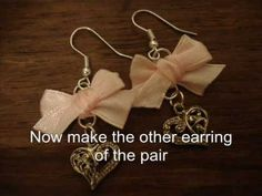 Tutorial: Sweet Lolita Bow Earrings with Charm  A jewelry supply site with several little projects. Charm jewelry is always nice and can be quite personal or inspirational.