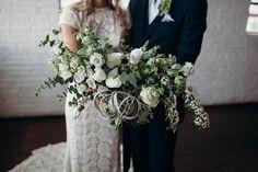 Industrial-Boho-Chic Jewish Wedding at Ambient   Studio, Atlanta, Georgia, USA