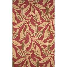 "Liora Manné Ravella Leaf Red Rug - 3'6"" x 5'6"" Price: USD 147 