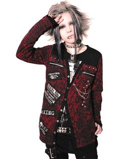 STUDS CHAIN COBWEB Layerd Cardigan (M) SB006050-003 SEX POT ReVeNGE APPAREL - CDJapan