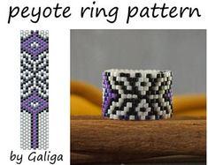 Ring pattern Pdf pattern Peyote ring tutorial Beading instructions Beaded ring Jewelry making Beadin Tutorial Anillo, Ring Tutorial, Peyote Stitch Tutorial, Peyote Stitch Patterns, Seed Bead Jewelry, Seed Beads, Craft Jewelry, Jewelry Making, Beaded Jewelry Patterns