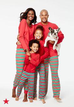 Family Pajamas Holiday Stripe Knit Pajama Sets Created For Macys Women Bras Panties Lingerie Macys