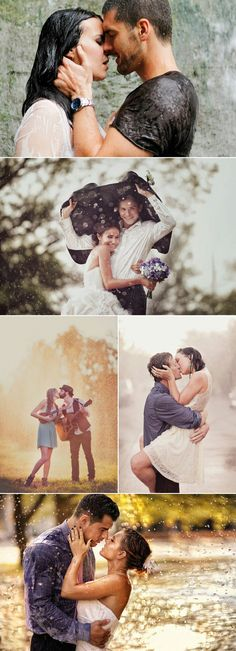 Fearless Love | In the Rain  Engagement Photo Ideas | Adventurous Engagement Photos That Will Take Your Breath Away