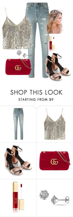 """""""look red"""" by tuguiafashion on Polyvore featuring moda, Yves Saint Laurent, Alice + Olivia, Alexander Wang y Gucci"""