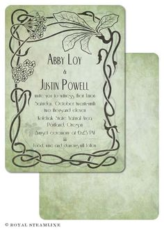 Wildwood Wedding Invitation By Royal SteamlineRoyal Steamline