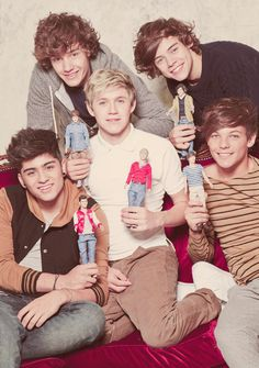 with their dolls  -H