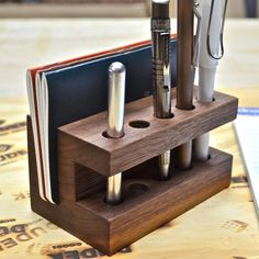 The Display Fountain Pen Holder. Love this. Definitely want for my work desk!
