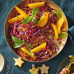 Rodekoolsalade met sinaasappel Ethnic Recipes, Food, Salads, Essen, Meals, Yemek, Eten