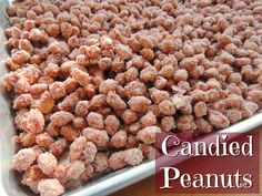 These candied peanuts are SO GOOD and SO EASY and SO inexpensive (Best part yet!) and taste like a homemade version of Boston Baked Bean peanut candy. Peanut Recipes, Candy Recipes, Holiday Recipes, Dog Food Recipes, Snack Recipes, Cooking Recipes, Peanut Snacks, Cooking Ideas, Appetizer Recipes