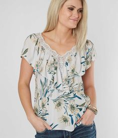 ef3445fb644 Daytrip Floral Top - Women s Shirts Blouses in Blue