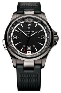 Victorinox Swiss Army® 'Night Vision' Rubber Strap Watch, 42mm available at #Nordstrom