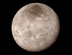 New Horizons provides unprecedented details of Pluto's moon, Charon, as presented in a NASA press conference on July 15, 2015, at the Johns Hopkins University Applied Physics Laboratory, Laurel, Maryland.<br />