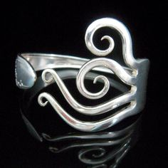 Silver Fork Bracelet in Original Flame Design by MarchelloArt