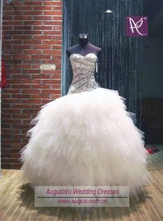 New Ivory Beaded Ball Gown Tulle Quinceanera Homecoming Wedding Evening Dresses | eBay