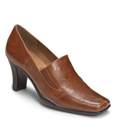 Loving this Mid Brown Cinario Pump on #zulily! #zulilyfinds
