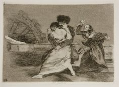 """Francisco de Goya - No quieren (""""They do not want to"""") (Plate 9, 1810-1814)"""