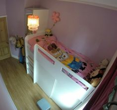 My daughter needs a cabin bed that has a wardrobe underneath and runs along the length of the room. I thought it would be an easy buy. No such luck!
