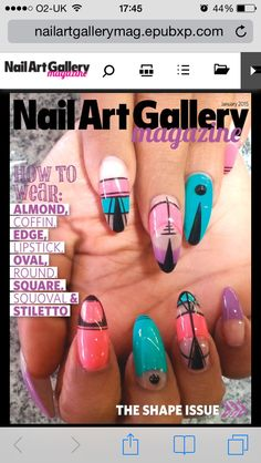 From nail art gallery magazine - colour block