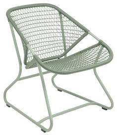 Sixties Low armchair - / Flexible woven plastic seat Cactus by Fermob - Design furniture and decoration with Made in Design