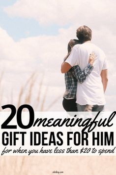 Looking for unique gift ideas for men on a budget? These 20 gifts for him under 20 will make shopping a breeze! Even if you only have $20 to spend you can still buy a great present for your boyfriend, husband or dad! Perfect for birthday, Christmas, Valentine's Day or just because! #giftsforhim #valentinesgiftforhim #christmasgifts