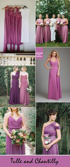 bodacious purple autumn bridesmaid dresses color ideas
