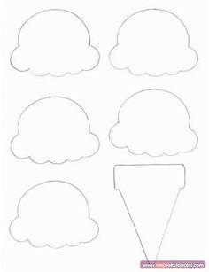 Food Crafts - Print your Ice Cream Cone Template at AllKidsNetwork. Ice Cream Cone Craft, Ice Cream Crafts, Ice Cream Theme, Ice Cream Party, Ice Cream Scoop, Kids Crafts, Preschool Activities, Summer Crafts For Preschoolers, Preschool Summer Crafts