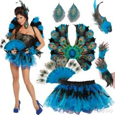 Be flirty! Stand out from the flock with a YOU-nique mix of feathered peacock costume accessories. Click for more like this! #BeACharacter