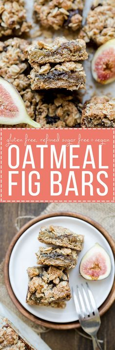 These Oatmeal Fig Bars are an incredible way to use your fresh figs! These gluten-free + vegan bars taste like Fig Neutons, but without the guilt or refined sugars. Enjoy them for breakfast or as a snack!