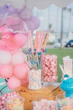 Candy Buffet from a Boho Mermaid Party on Kara's Party Ideas   KarasPartyIdeas.com (29)