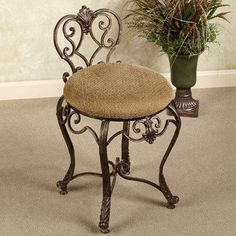 [gallery On this section, we will discuss about one antique and stylish design of furniture, it is about vanity stool. Vanity stool is kind of chair but smaller in size. Room Design, Decor, Furniture, Vanity Chair, Minimalist Vanity, Metal Furniture, Small Living Room Chairs, Home Decor, Bronze Furniture