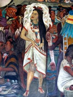 lolitalenya: Detail of mural at Mexico's Palacio Nacional, by Diego Rivera.