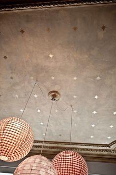 Muriel-Bardinet-House- Belgium-1 cool idea -stenciled stars on ceiling