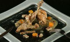 Receta de Conejo guisado con salsa de mostaza