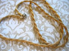Vintage Gold Filled Twisted ROPE 26 inch Necklace by charmingellie, $18.00