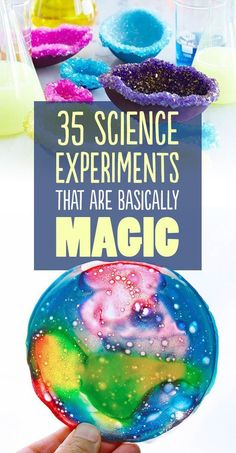 35 Magical Science Experiments. Make crystal words, fireworks in a jar... tons…