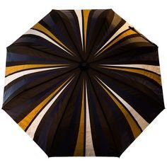 Raindance Umbrellas - Cityslick Navy & Gold ($61) ❤ liked on Polyvore featuring accessories