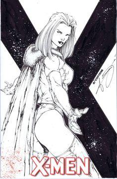 Emma+Frost+sketchcover+by+adelsocorona.deviantart.com+on+@DeviantArt
