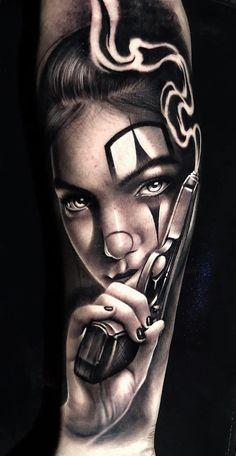 30 tatuagens masculinas no antebraço тату тату девушки, татуировка лошадь и Chicano Tattoos Sleeve, Chicano Style Tattoo, Tattoos 3d, Chicanas Tattoo, Skull Girl Tattoo, Girl Face Tattoo, Clown Tattoo, Best Sleeve Tattoos, Piercing Tattoo