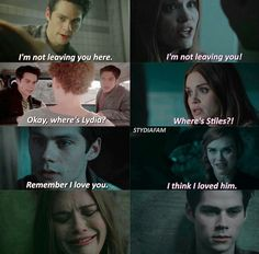 Stiles and Lydia Parallels. Teen Wolf Quotes, Teen Wolf Funny, Teen Wolf Memes, Teen Wolf Boys, Teen Wolf Dylan, Teen Wolf Cast, Dylan O'brien, Teen Wolf Stydia, Teen Wolf Ships