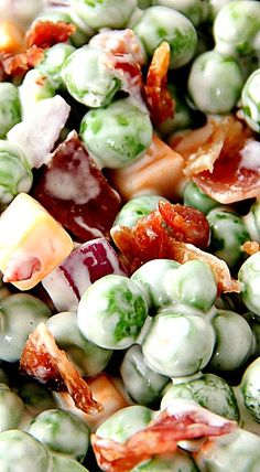Pea Salad with Bacon and Cheddar ❊