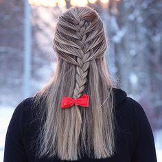 Half up mermaid braid @twistmyhair