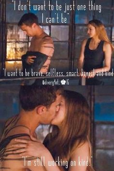 """Shailene Woodley Talks Making Out With Theo James In Divergent: """"He's A Great Kisser"""" ( - his girlfriend is a lucky gal :P) Divergent Hunger Games, Divergent Fandom, Divergent Trilogy, Divergent Insurgent Allegiant, Divergent Quotes, Divergent Movie Scenes, Divergent Theo James, Divergent Funny, The Fault In Our Stars"""