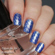Thuya 223 over Nails Inc Baker Street Stamped with BM 422