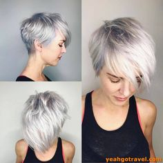 17 New Short Hairstyles for 2019 Beautiful Bob & Pixie Haircuts, Frisuren, 17 New Short Hairstyles for 2019 Beautiful Bob & Pixie Haircuts - With Hairstyle. Short Layered Haircuts, Short Hairstyles For Thick Hair, Short Hair With Layers, Pixie Hairstyles, Short Hair Cuts, Curly Hair Styles, Pixie Haircuts, Layered Hairstyles, Pixie Styles