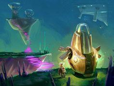 Concept que produzi para um projeto de game espacial junto com os bródi do Estúdio Udes. Concept that I made for a space game project. #conceptdesign #gamedesign