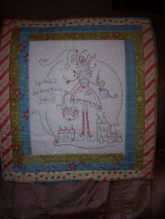 Wallhanging I stitched for Gill