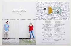 Him/Her by Ali Edwards using the AM/PM Story Kit™ and Story Stamp™